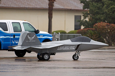 After the recent budget cuts, this is all that is left of the F-22 Raptor.