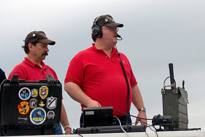 David Schultz hard at working as the AirBoss for the air show.