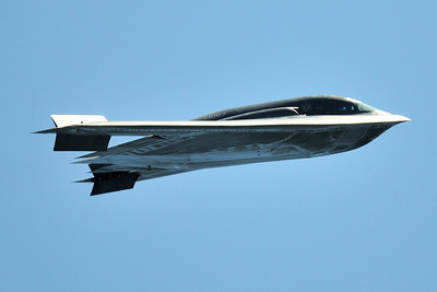The Spirit of Arizona B2 Bomber does a flyby on Saturday, April 25, 2009