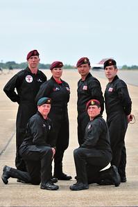 U.S. Army Black Dagger's Parachute Team
