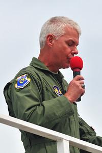 Major Gen CR Davis welcomes the crowd.