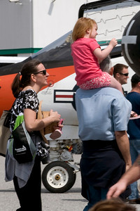 Sometimes the best seat at an air show is atop your father's shoulders.