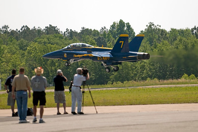 Blue Angel number 7 takes off on Friday for a media flight.
