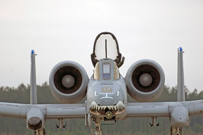 """Major """"Dusty"""" Green waving to the crowd after his A-10 demo on Saturday"""