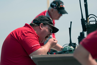 Even the Airboss, David Schultz, enjoys air show food for lunch. Here we see David chowing down on some local BBQ before the flying began.