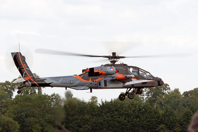The Netherlands Air Force had this very colorful Apache helicopter perform at RIAT 2011.