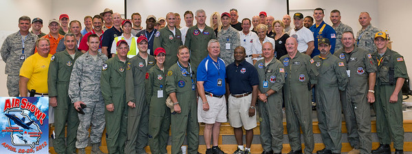 The Performer's Group photo was taken at the conclusion of the Sunday Pilot's Briefing.