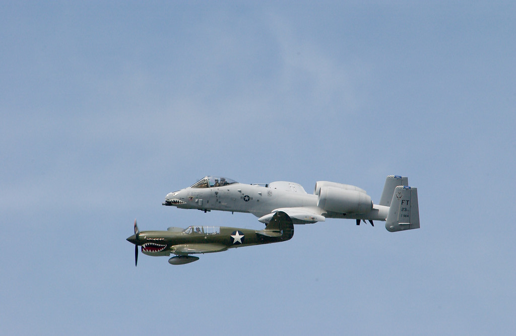 p51 and a10 fly by