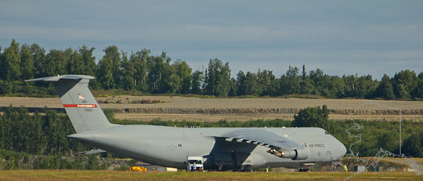 Lockheed C-5 Galaxy. Seen here from across the airfield.