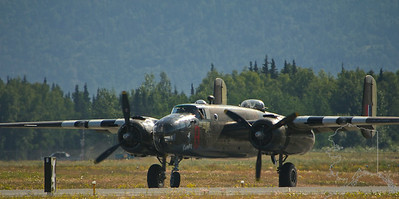 WW II B25 Mitchell bomber.