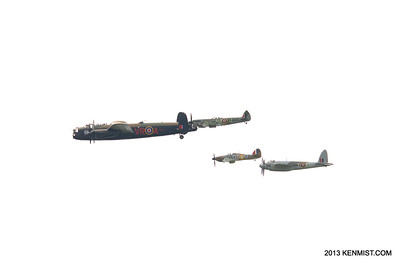 Lancaster, Mosquito, Spitfire and Hurricane