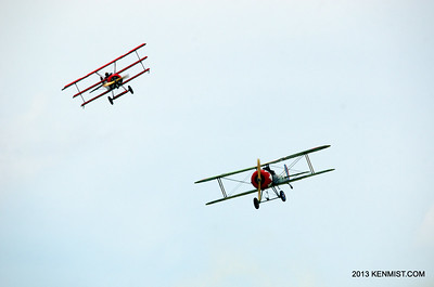 Fokker Dr.I  and Nieuport 28 replicas from Great War Flying Museum  Fokker DR.1 and