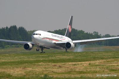 Cargojet 767 freighter.