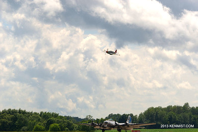 Sentimental Journey B-17 and Tuskgee Airmen Red Tail Project P-51C Mustang