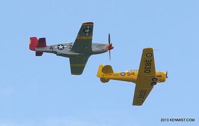 P-51C and Harvard