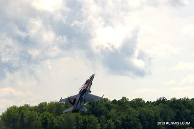 CF-18 Demonstration Team Hornet at 2013 Great Lakes International Air Show
