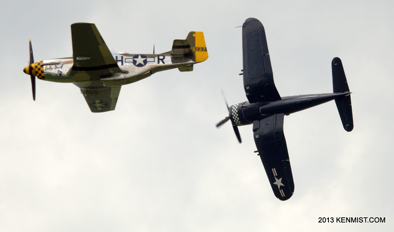 P-51 Mustang and FG-1 Corsair