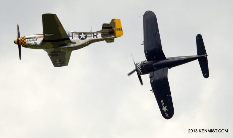 P-51 Mustang and FG-1 Corsair