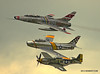 F-100, F-86 and P51