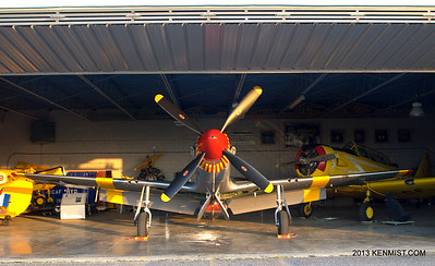 P-51C Mustang at Canadian Harvard Aircraft Association hangar in Tilsonburg
