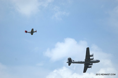 One of only 2 flying P-51C Mustangs escorting the only flying B-29