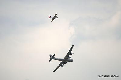 P-51C and B-29 at Dayton Air Show