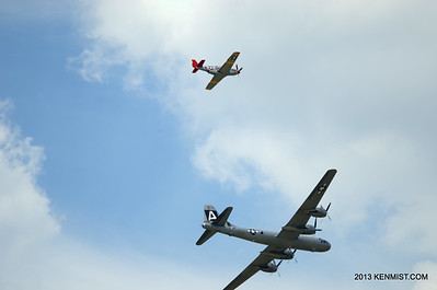 P-51C and B-29