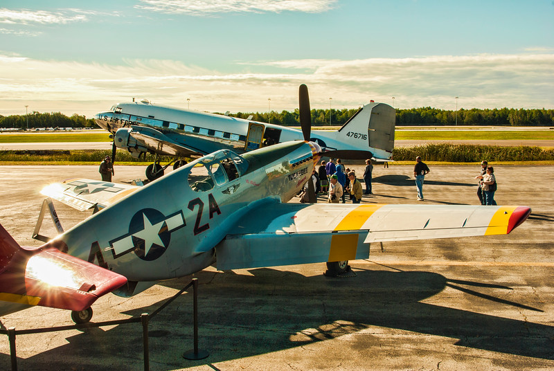 Mustang and the C-47 from the Yankee Air Museum