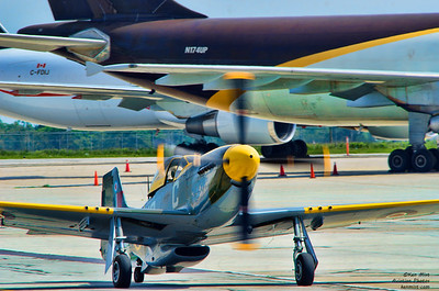 Vintage Wings of Canada P-51D Mustang flown by founder Michael Potter at the Canadian Warplane Heritage Museum 2015 SkyFest