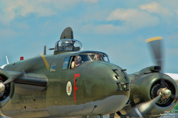 Canadian Warplane Heritage Museum North American B-25J Michell MK. III bomber at the 2015 SkyFest