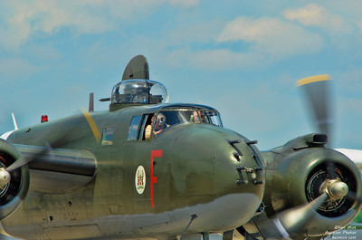 Canadian Warplane Heritage Museum North American B-25J Michell MK. III bomber at the 2015 SkyFest