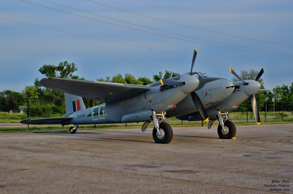 Military Aviation Museum de Havilland Mosquito at the Canadian Warplane Heritage Museum 2015 SkyFest.