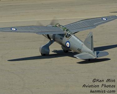 Vintage Wings of Canada Westland Lysander piloted by Dave Hadfield at Canadian Warplane Heritage Museum 2015 SkyFest