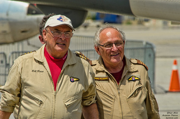 Bill Rouw and Marc Plouffe of the Canadian Warplane Heritage Museum B-25 crew.