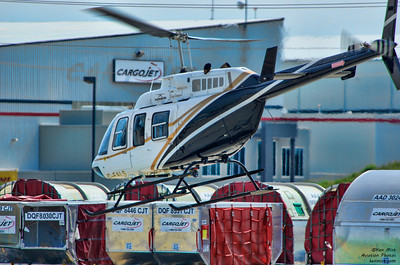 Bell 206L offering rides at the Canadian Warplane Heritage Museum 2015 SkyFest