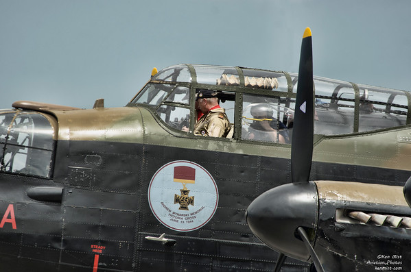 Watching the dials during an engine run at the Canadian Warplane Heritage Museum.  Mynarski Lancaster