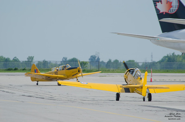 Canadian Warplane Heritage Museum Fairchild Cornell and North American Harvard at 2015 SkyFest
