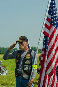 Member of the Patroiit Guard Riders at the 2015 National Warplane Museum Geneseo Airshow.