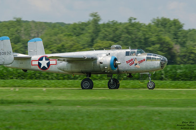 """Take-Off Time"" B-25 at the 2015 National Warplane Museum Geneseo Airshow."