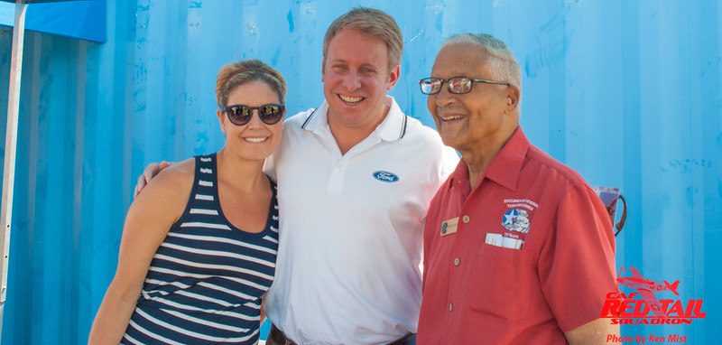Colonel Charles McGee, Henry Ford III and Emily Ford at Oshkosh 2015