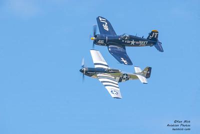 Scott Yoak and Jim Torbul at the Rochester International Air Show.