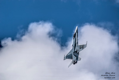 Cheech getting some altitude quickly during the CF-18 Demo practice.