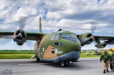 "C-123 Provider ""Thunder Pig"" from the Air Heritage Museum at the Rochester International Air Show."