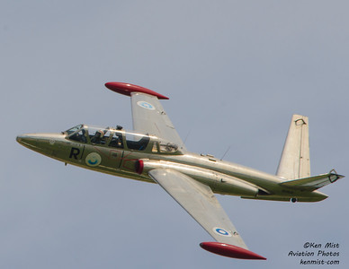 Fouga Magistar from Genesee Warbirds at the 2015 Rochester International Air Show.