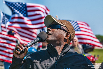 Mark of the All Veterans Group Parachute Team at the 2015 Rochester International Air Show.