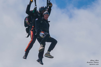 Tandem jump with the All Veterans Group Parachute Team.
