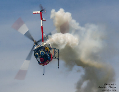 Otto the helicopter flown by Roger Buis at the 2015 Rochester International Air Show.