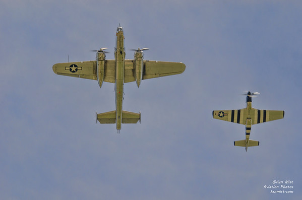 """""""Panchito"""" and """"Quick Silver"""" at the 2015 Rochester International Air Show."""