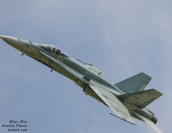 "Captain Denis ""Cheech"" Beaulieu flies the CF-18 Demo routine at the 2015 Rochester International Air Show."