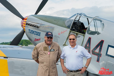 Bill Bacha with Doug Rozendaal at World War II Weekend in Reading PA